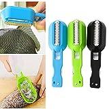 ulooie Küche Werkzeug Gadgets Fisch Bürste Haut Kratzen Fish Scale Bürste Reiben Schnell entfernen (zufällige Farbe)