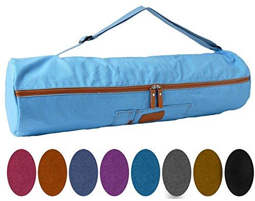 Sac de yoga »Sunita«, taille M de #DoYourYoga en toile de haute qualité (toile à voile), fabriqué avec soin, pour les matelas de yoga allant jusqu'à 180 cm x 60 cm x 0,3cm, noir
