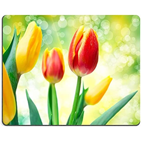 Liili Mouse Pad-Tappetino per Mouse in gomma naturale con ID immagine: dettaglio 27301986 tulipano fiori