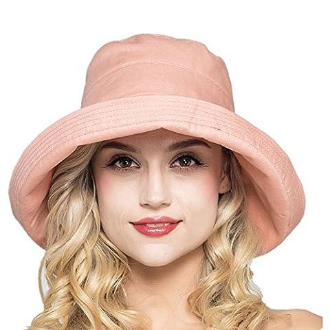 Bord De Tous Les Temps Costumes - Élégant Capeline Femme Bob en Coton Chapeau