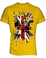 Union Jack Abstract Print Mens T-Shirt Top