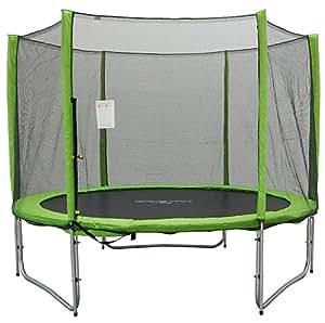 capetan selector lime 427 cm trampolin mit 180 kg belastbarkeit mit langen netzstangen mit. Black Bedroom Furniture Sets. Home Design Ideas