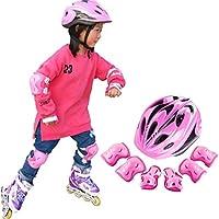 Giplar Set di Casco, Ginocchiere, Gomitiere e Protezione Polso per Pattini, Bicicletta, Bici BMX, Skateboard, e Attività All'aperto