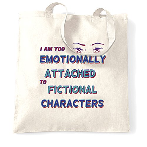 Trop émotionnellement attachée à Fictional Characters Nerd Geek Tumblr Sac à Main