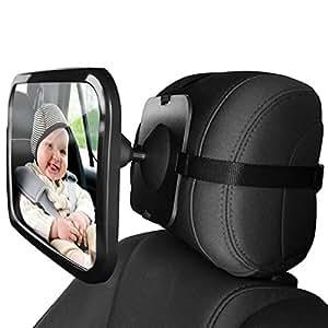 zuoao r troviseur de surveillance b b miroir de si ge arri re avec incassable. Black Bedroom Furniture Sets. Home Design Ideas