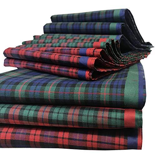 JEMIDI Stofftaschentücher 12er Pack Damen 30 x 30 100% Baumwolle (45678-5)