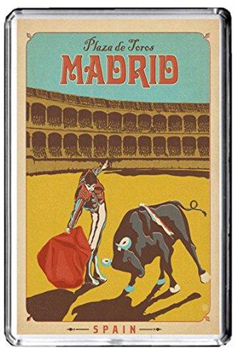 C143 MADRID KÜHLSCHRANKMAGNET SPAIN VINTAGE TRAVEL PHOTO REFRIGERATOR MAGNET (Magnet Madrid)
