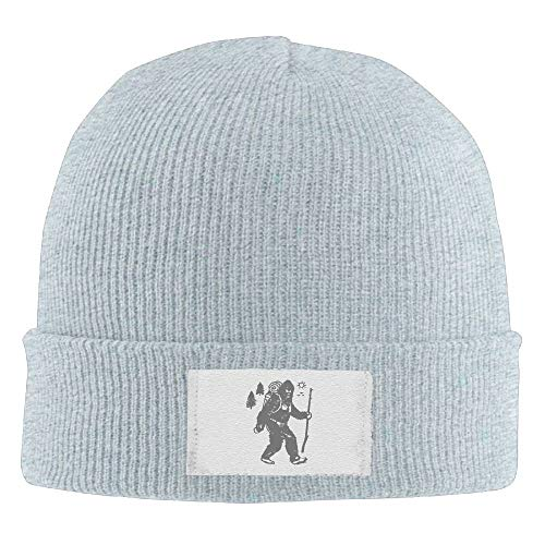 Ygoner Bigfoot Hiking Camping Unisex Knit Beanie Hat 100% Acrylic Daily Warm Soft Hats Black Acrylic Knit Beanie