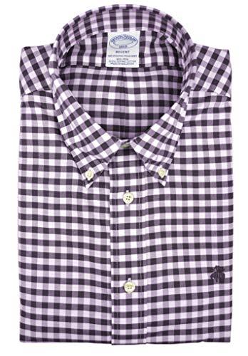 Oxford-hemd Mit Karomuster (Brooks Brothers Herren Hemd mit Gingham-Karomuster, Regent-Passform, Supima-Baumwolle, Burgunderrot, Herren, Burgundy Red Gingham Plaid, XX-Large)