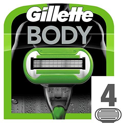 Gillette Body 5 Lot de 4lames de rasoir pour homme