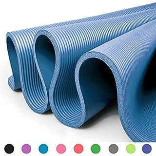 Glamexx24 XXL Fitnessmatte Yogamatte Pilatesmatte Gymnastikmatte EXTRA-dick und weich, ideal für Pilates, Gymnastik und Yoga Blau
