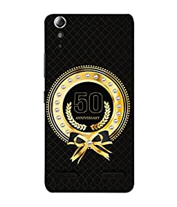 Lenovo A6000 Plus, Lenovo A6000+, Lenovo A6000 Back Cover 50th Aniversary Golden Logo Design From FUSON