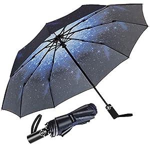 Newdora Paraguas Plegable Automático Impermeable