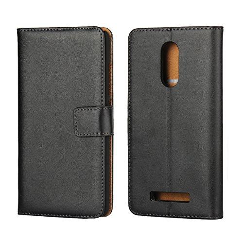 Copmob Xiaomi Redmi Note 3 Hülle Handyhülle Redmi Note 3 [Premium Leder] [Standfunktion] [Kartenfach] [Magnetverschluss] Schlanke Leder Brieftasche für Redmi Note 3 Schwarz