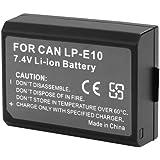 2 Pack Lp-E10 Batterie Rechargeable Pour Canon Digital Rebel Baiser 1100D T3 X50