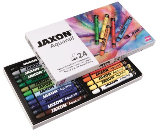 Jaxon 49436 Aquarell Wachspastelle, 24er Set