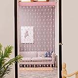 VENMO 50x200cm Liebes-Herz Fadenvorhang Fenstertürteiler Sheer Curtain Valance schlafzimmer vorhänge Fensterfolien Raffgardinen Rollos & Jalousien Wohnaccessoires & Deko Fensterdekoration Vorhänge (pink)