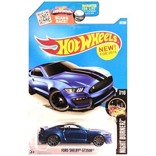 2016 Hot Wheels Night Burnerz 7/10: Ford Shelby GT350R (Dark Blue) by Hot Wheels
