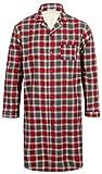 Walker Reid Herren Flanell Baumwolle Rot Karo Langarm Hemd mit Kragen Traditionelle Nachthemd XX groß