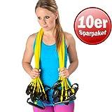 Dittmann 10er Paket Body-Tube Widerstand Training Functional Fitness Reha gelb