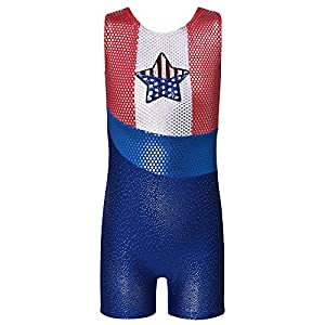 HUANQIUE Mädchen Gymnastische Kleidung Trikot Leotard Sommerübungskleidung