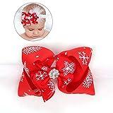 Tinksky Baby Weihnachten Stirnband Neugeborenen Feder Bowknot Haarband Headwear Baby Mädchen Weihnachten Dress Up Zubehör