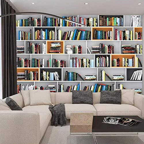 Fototapete vlies Wandbild XXL wohnzimmer Tapeten tereostudy Bücherregal 3D Fototapete