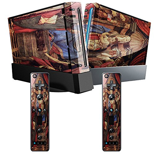Botticelli - Madonna Throne Of Angels And Saints, Designfolie Sticker Skin Aufkleber Schutzfolie mit Farbenfrohem Design für Nintendo Wii (Madonna Botticelli)
