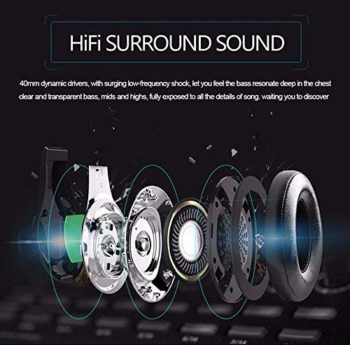 Longteng Zealot Wireless Bluetooth Headset Noise Cancellation 3D Stereo LCD Kopfhörer. Schwarz - 2