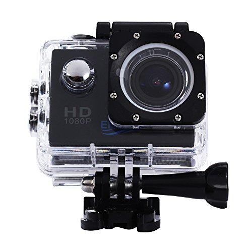 emebay-Fotocamera Sport/Videocamera azione sport/Fotocamera Impermeabile ad alta definizione con 12MP Immagine e Full HD (1080P a 30fps) Video, 30m profondità impermeabile, con LCD Display, 170° HD Grandangolo, Accessori multipli, per gli sport di pieno Aria