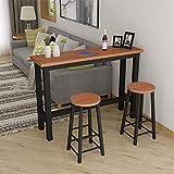 XIA Bar Tisch Haushalt einfach modern gegen die Wand Couchtisch hohen Tisch Partition Tisch (Farbe : B, größe : 100 * 40 * 100cm)