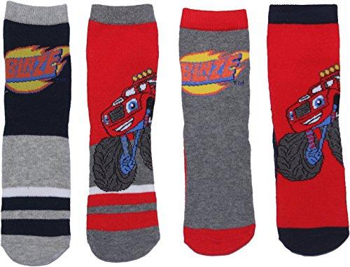 Blaze and the Monster Machines  Childrens 4PK Socks Set 27-30