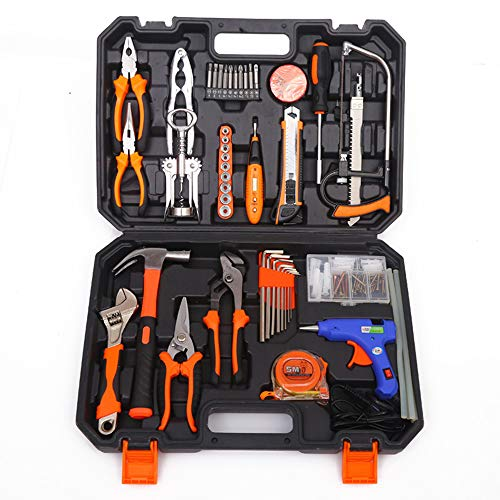 Tool Kit, 98 Stücke Home Tool Set DIY Haushalt Handwerkzeug Set Gut für Home Office Schuppen Garage Fahrrad Auto Elektronik Test Reparatur Wartung