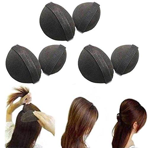 2pezzi/1paio spugna Bump It Up Volume Capelli Base Styling inserto utensili accessori per capelli colore nero