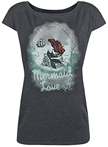 Ariel - The Little Mermaid Waiting For You T-shirt Femme gris sombre chiné M