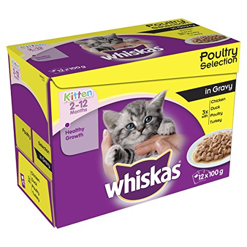 whiskas-kitten-food-2-12-months-poultry-selection-in-gravy-100-g-pack-of-4-total-48-pouches