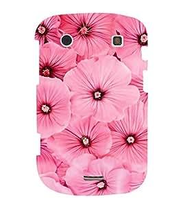 FUSON Pink Mallow Flower Background 3D Hard Polycarbonate Designer Back Case Cover for BlackBerry Bold Touch 9900 :: BlackBerry Dakota :: BlackBerry Magnum