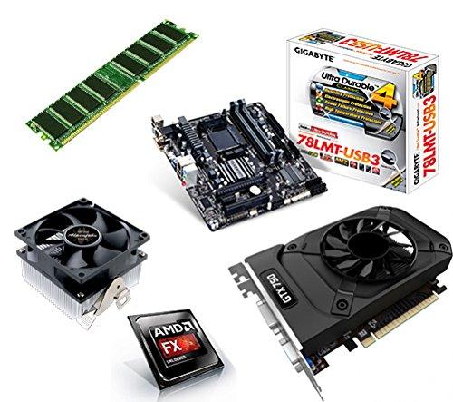 One PC Aufrüstkit | AMD FX-Series Bulldozer FX-6300, 6x 3.50GHz | montiertes Aufrüstset | Mainboard: Gigabyte GA-78LMT-USB3 | 8 GB RAM (1 x 8192 MB DDR3 Speicher 1600 MHz) | - Grafikkarte Gtx650