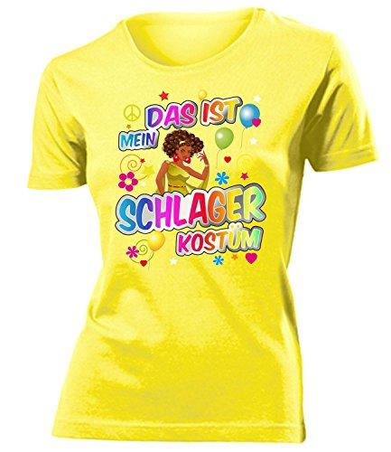 Schlager Kostüm Frauen T-Shirt Karneval Fasching Motto Schlager Party Geschenke Schlagertshirt Kleid Kleidung Schlagerhemd Schlagerfanartikel (Ideen Für Kostüme)