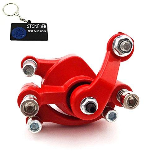 stoneder rot vorne Bremse, Bremssattel für 43CC 47cc 49cc Pocket Bike Mini Moto Kinder Dirt Bike Gas Scooter Baby Crosser 4Wheeler Stahl (Vier Gas Wheeler)
