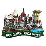 Budapest - Imán de resina para nevera, diseño de Hungría 3D, ideal como recuerdo de turista, hecho a mano, creativo para el hogar y la cocina, adhesivo magnético