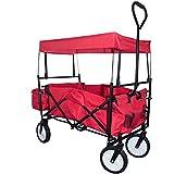 NFP Bollerwagen Handwagen Transportwagen Faltbar mit Abnehmbaren Dach bis 100 kg 21082