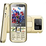 Gfive W1 Golden 2.4 Inch, Four Sim Multimedia Mobile With 3000 MAh Powerfull Battery, Auto Call Recording, Wireless FM With Recording, Internet, Vibration With 1 Year Warranty
