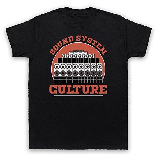 Sound System Culture Jamaican Reggae Ska Music DJs Herren T-Shirt Schwarz