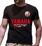 Print & Design T-Shirt Maglietta Yamaha Personalizzata Nera (XL)