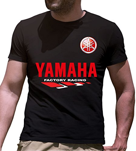 Print & Design T-Shirt Maglietta Yamaha Personalizzata Nera (s)