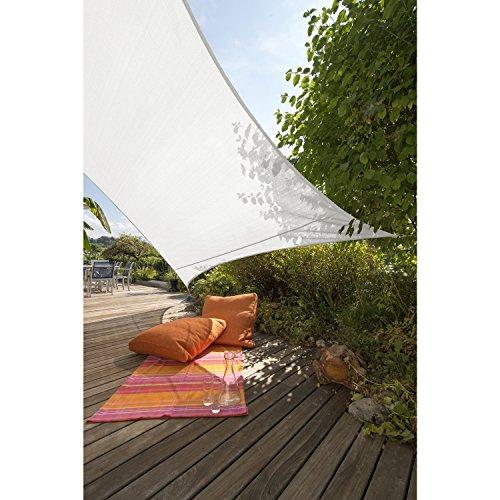 Windhager '3,6x3,6m' SunSail Sonnensegel 'ADRIA', 158 g/m², Quadrat, 3,6x3,6m, weiß (1 Stück)