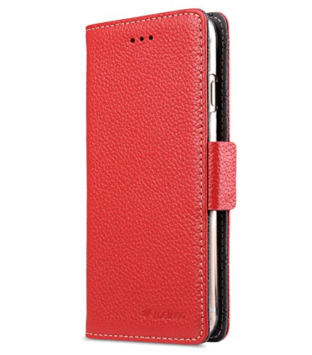 Apple Iphone 7 Melkco Jacka Type Premium Leather Case with Premium Leather Hand Crafted Good Protection,Premium Feel-Red LC Red LC 8