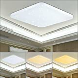VGO® LED Farbwechsel Deckenlampe 60W Farbwechsel Deckenleuchte Starlight-Effekt Mordern Wand-Deckenleuchte Badezimmer geeignet