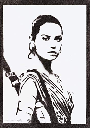 Rey STAR WARS Poster Plakat Handmade Graffiti Street Art - Artwork